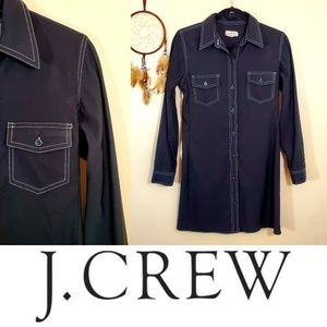 J.Crew Black Shirt Dress. Size 4